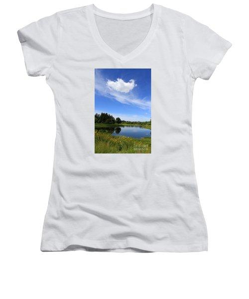 Beautiful Day Women's V-Neck T-Shirt (Junior Cut)