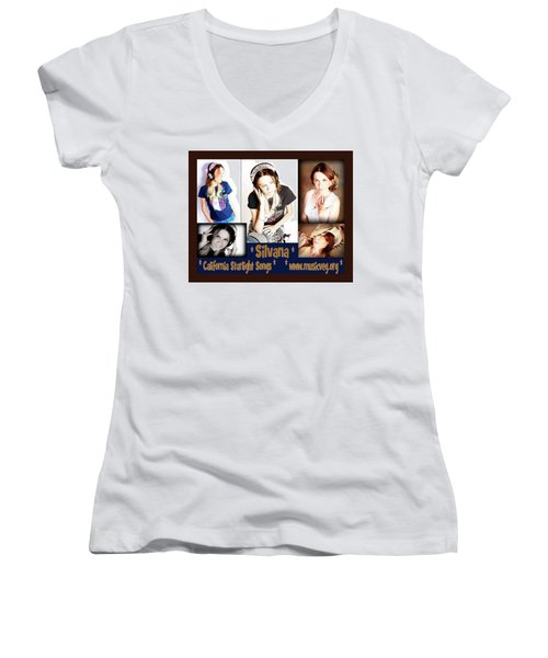 Beautiful Images Of Hot Photo Model Women's V-Neck T-Shirt (Junior Cut) by Silvana Vienne