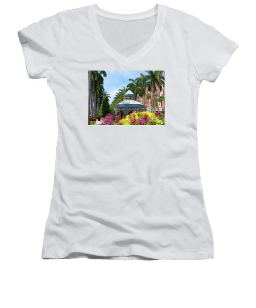 Beautiful Mizner Park In Boca Raton, Florida. #4 Women's V-Neck T-Shirt