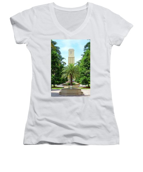 Beautiful Mizner Park In Boca Raton, Florida. #5 Women's V-Neck T-Shirt