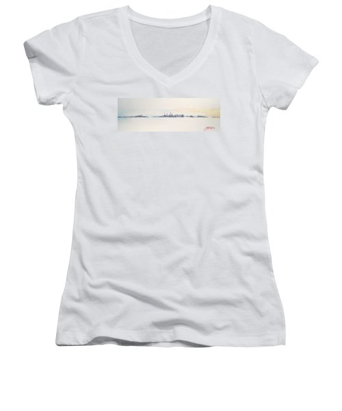 Beautiful Morning Women's V-Neck (Athletic Fit)