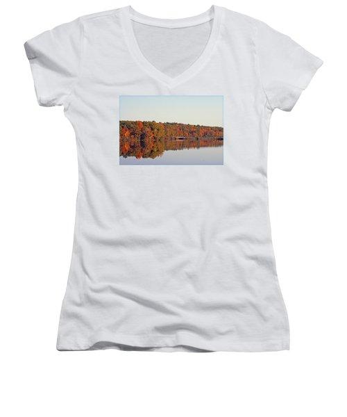Beautiful Reflections Women's V-Neck T-Shirt