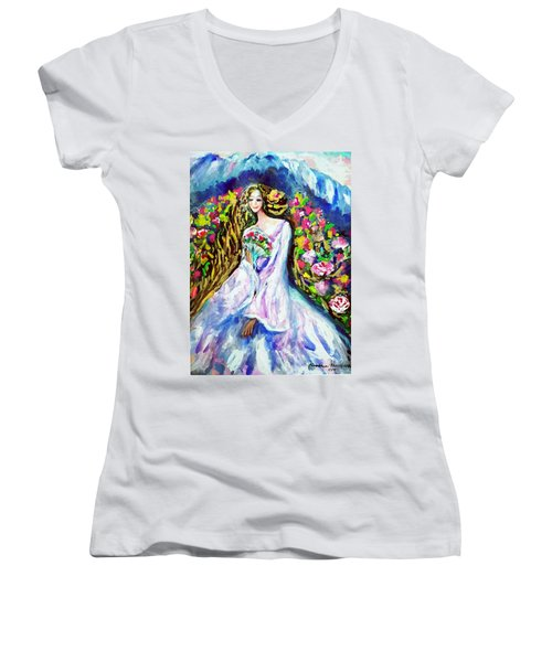 Beautiful World Women's V-Neck (Athletic Fit)