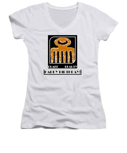 Beauty Women's V-Neck T-Shirt (Junior Cut)