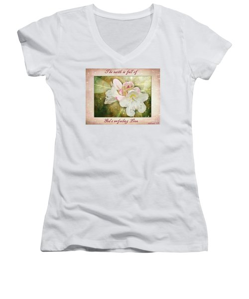 Beauty Of A Rhododendron Women's V-Neck (Athletic Fit)