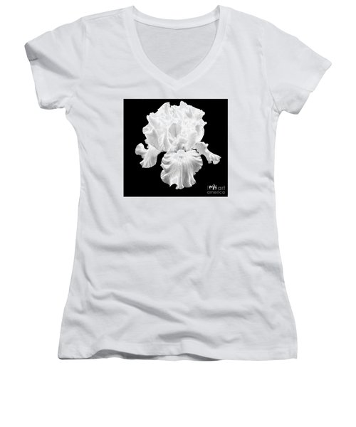 Beauty Queen In Black And White Women's V-Neck (Athletic Fit)