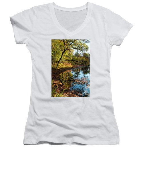 Beaver's Pond Women's V-Neck T-Shirt