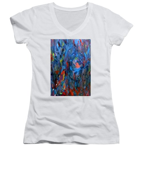 Because Of Love Women's V-Neck (Athletic Fit)