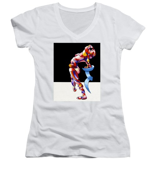 Becca 208-08 Women's V-Neck T-Shirt (Junior Cut) by Mark Webster