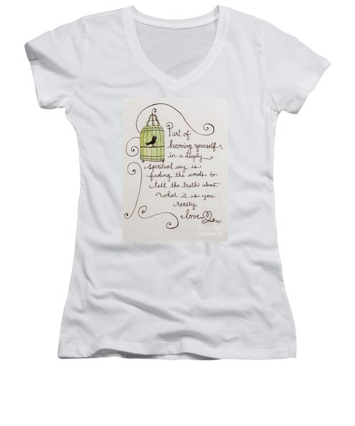 Becoming Yourself Women's V-Neck