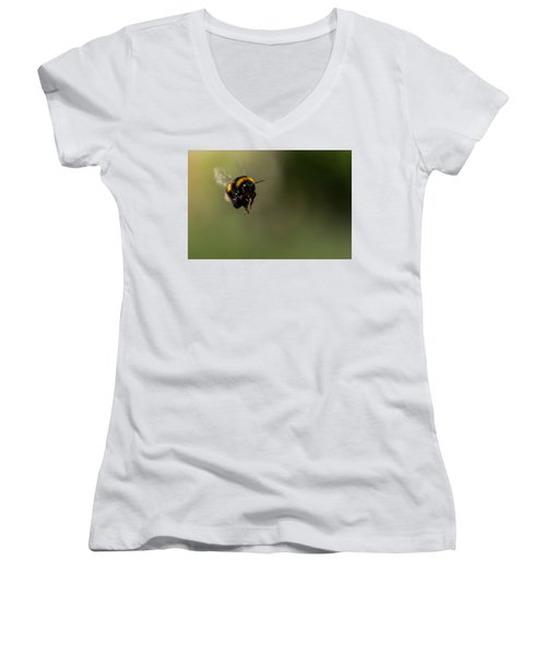 Bee Flying - View From Front Women's V-Neck
