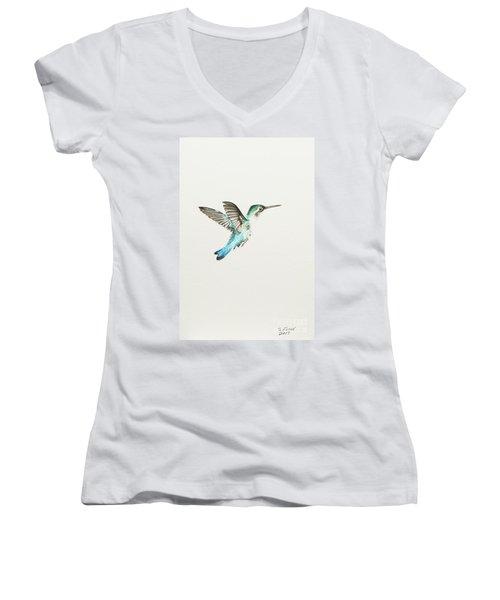 Bee Hummingbird Women's V-Neck T-Shirt
