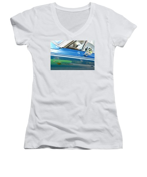 Beep Beep Hot Rod Women's V-Neck T-Shirt