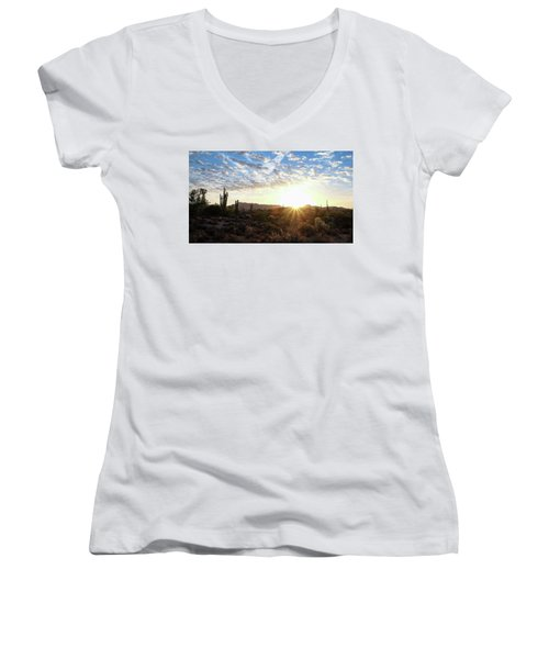 Beginning A New Day Women's V-Neck T-Shirt