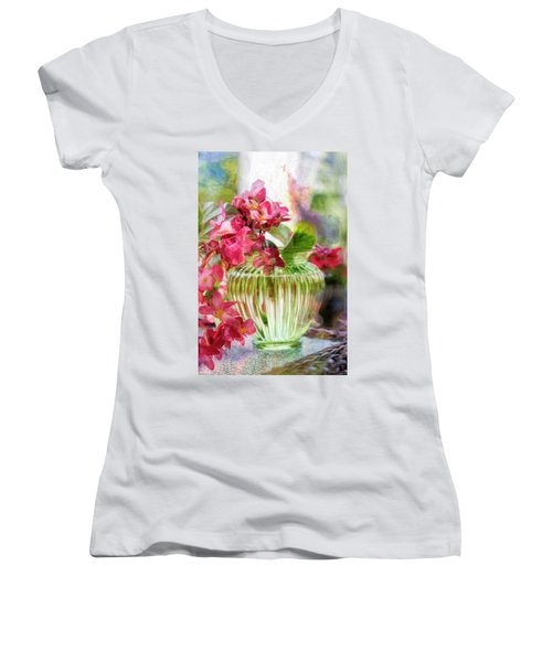Begonia Art Women's V-Neck