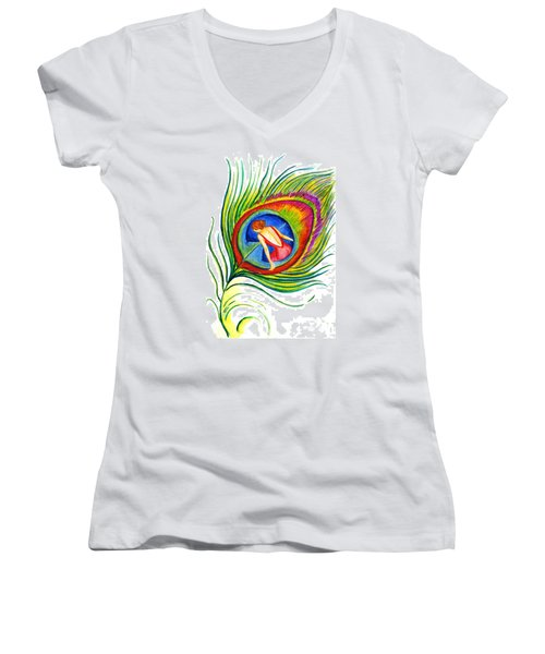 Behind Blue Eyes Women's V-Neck (Athletic Fit)