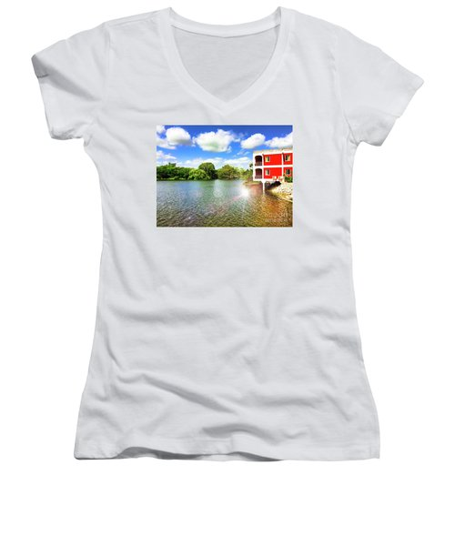 Belize River House Reflection Women's V-Neck