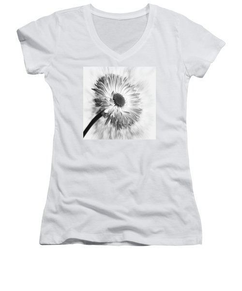 Bellis In Mono  #flower #flowers Women's V-Neck T-Shirt (Junior Cut) by John Edwards