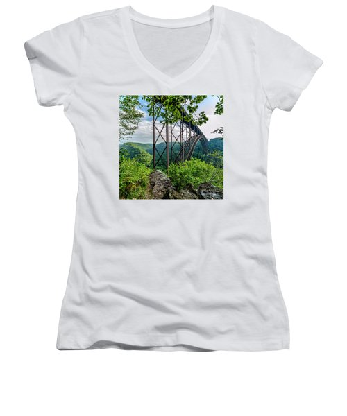Beneath New River Gorge Bridge Women's V-Neck