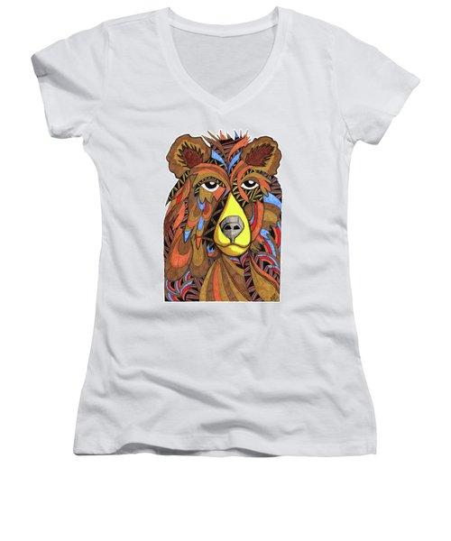 Benjamin Bear Women's V-Neck