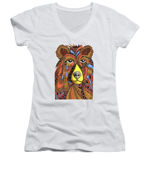 Benjamin Bear Women's V-Neck