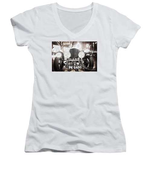 Women's V-Neck T-Shirt (Junior Cut) featuring the photograph Bentley by Randall Cogle