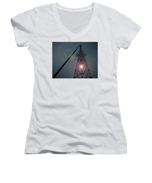 Women's V-Neck T-Shirt (Junior Cut) featuring the photograph Berkeley Springs by Robert Geary