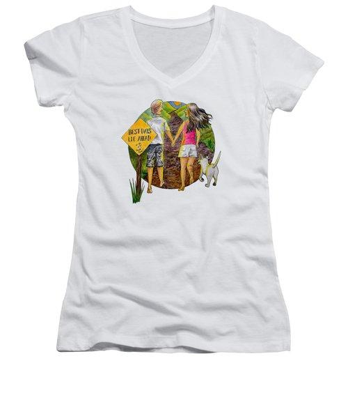 Best Days Lie Ahead Women's V-Neck T-Shirt