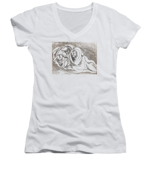 betrayal. May, 1996 Women's V-Neck T-Shirt (Junior Cut) by Tatiana Chernyavskaya