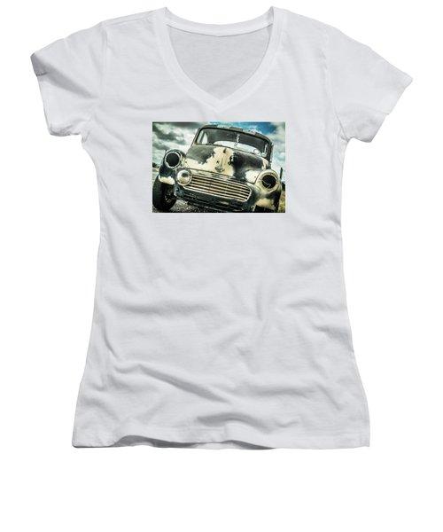 Beyond The Thunder Dome Women's V-Neck T-Shirt