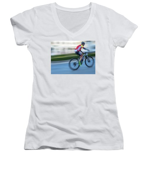 Bicycle Race Women's V-Neck