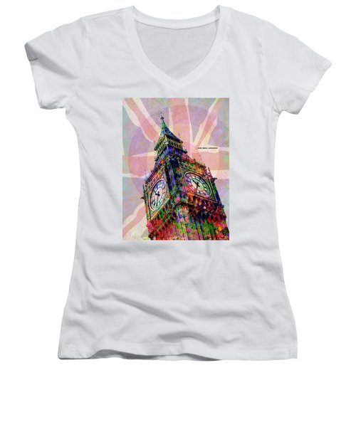 Big Ben Women's V-Neck T-Shirt (Junior Cut)