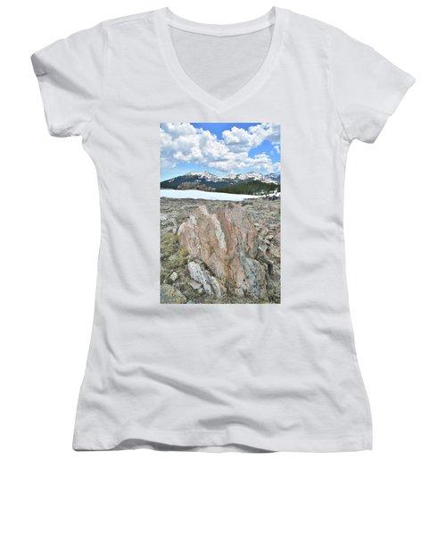 Big Horn Pass In Wyoming Women's V-Neck