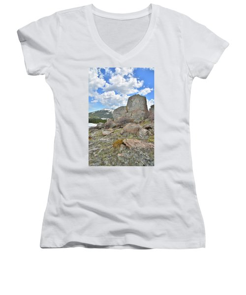 Big Horn Pass Rock Croppings Women's V-Neck (Athletic Fit)