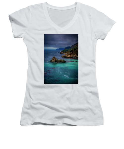 Big Sur Coastline Women's V-Neck (Athletic Fit)
