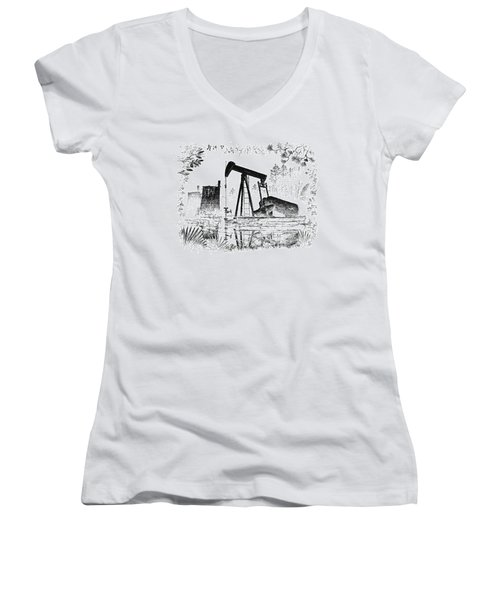 Big Thicket Oilfield Women's V-Neck (Athletic Fit)