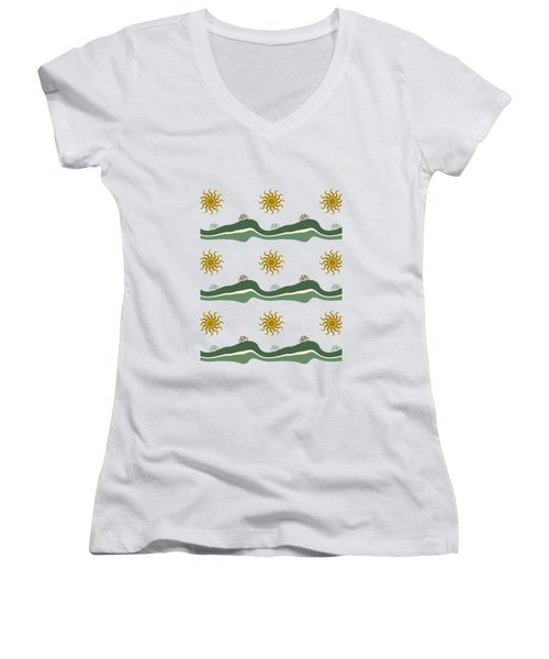 Bike Pattern Women's V-Neck