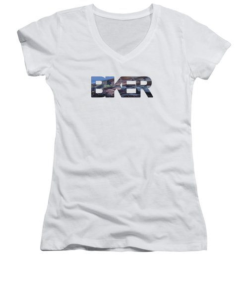 Biker Women's V-Neck (Athletic Fit)