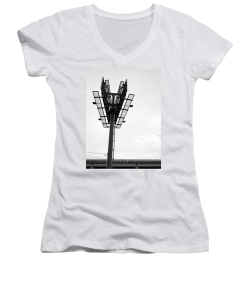 Billboard Above Interstate 15 In Helena Mt Women's V-Neck (Athletic Fit)