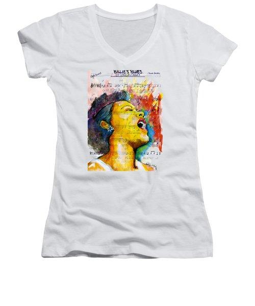 Billie's Blues Women's V-Neck T-Shirt