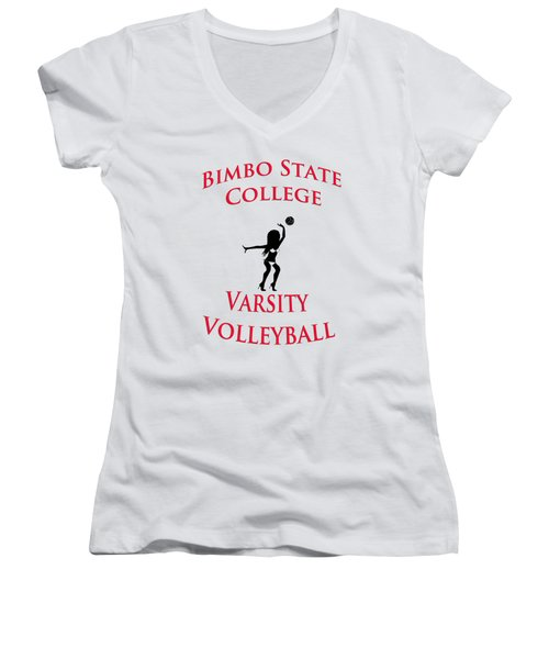 Bimbo State College - Varsity Volleyball Women's V-Neck T-Shirt