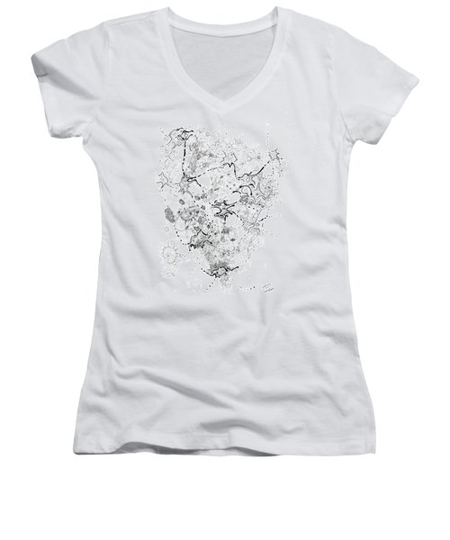 Biology Of An Idea Women's V-Neck T-Shirt (Junior Cut) by Regina Valluzzi