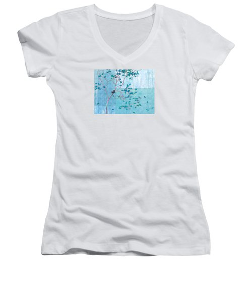Bird In A Tree-1 Women's V-Neck (Athletic Fit)