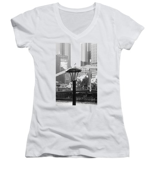 Birds Eye View Of The City Women's V-Neck T-Shirt