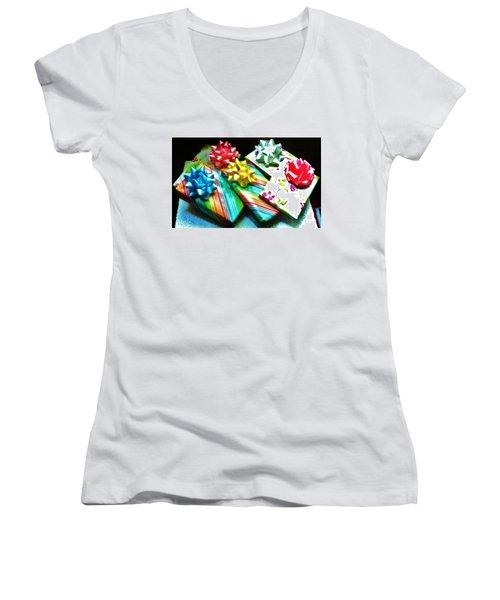 Birthday Presents Women's V-Neck T-Shirt