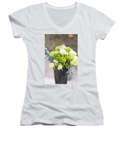 Women's V-Neck T-Shirt (Junior Cut) featuring the photograph Birthday Wishes by Joan Bertucci
