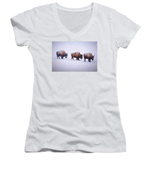 Bison March Impressions Women's V-Neck