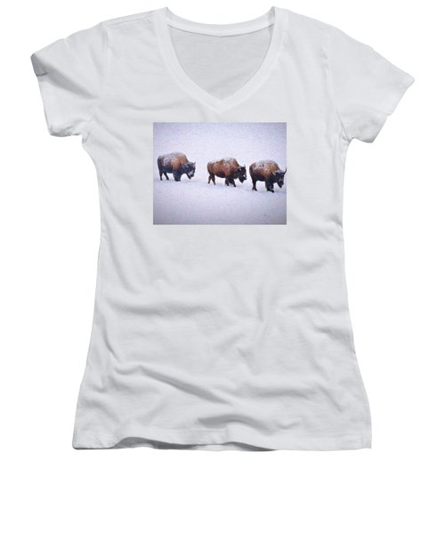 Bison March Impressions Women's V-Neck