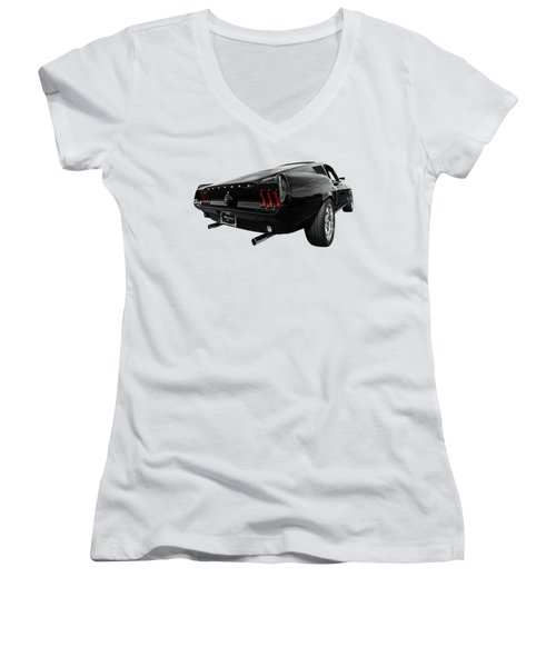 Black 1967 Mustang Women's V-Neck