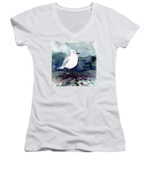 Black-billed Gull Women's V-Neck (Athletic Fit)